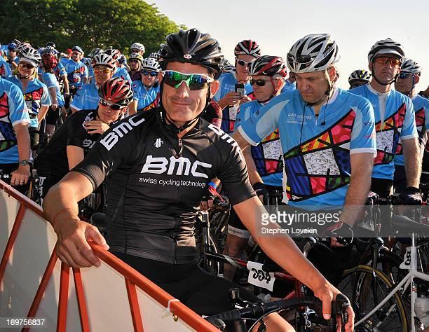 Cyclist George Hincapie attends the Best Buddies Challenge Hyannis Port on June 1 2013 in Hyannis Port Massachusetts