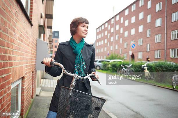 Cyclist in Copenhagen, Denmark.