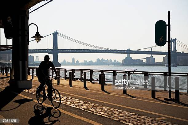 Cyclist in new york