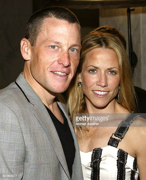 Cyclist Lance Armstrong and Singer Sheryl Crow arrive for Saks Fifth Avenue's Unforgettable Evening honoring Lance Armstrong at the Beverly Regent...