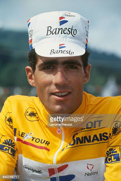 Cyclist Miguel Indurain from Spain.