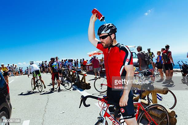 Cyclist on Mont Ventoux, France