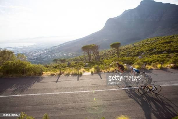 Radfahrer auf einer Trainingsfahrt