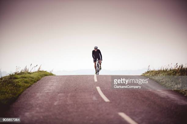 Cyclist Out On a Training Ride