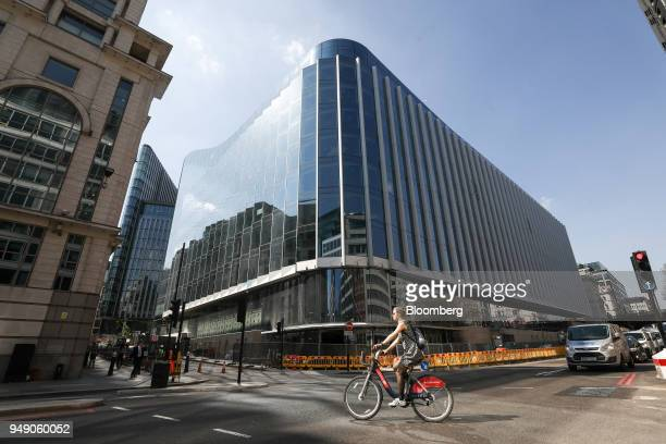 A cyclist passes the new European headquarters of Goldman Sachs Group Inc in London UK on Friday April 20 2018 Foreign investors are less worried...