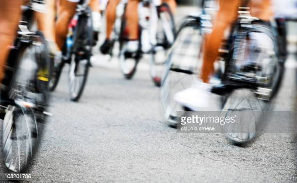 cyclist race. color image - cycling event stock pictures, royalty-free photos & images