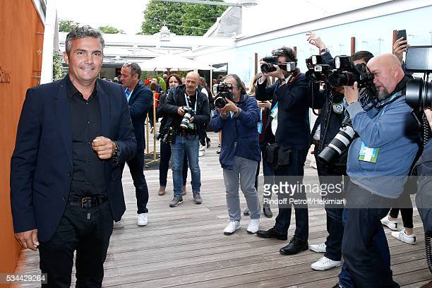 Cyclist Richard Virenque attends the 2016 French Tennis Open Day Five at Roland Garros