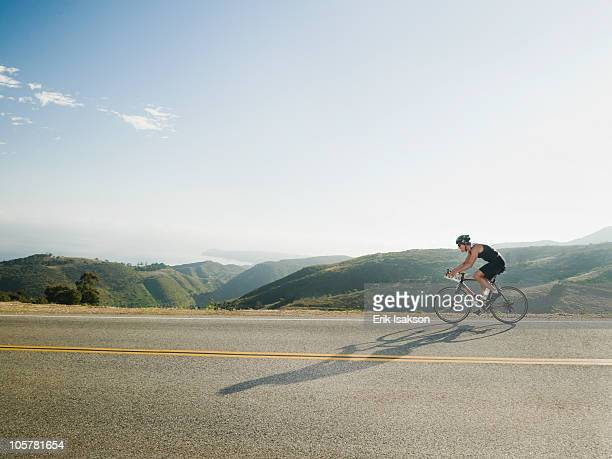 cyclist road riding in malibu - cycling event stock pictures, royalty-free photos & images