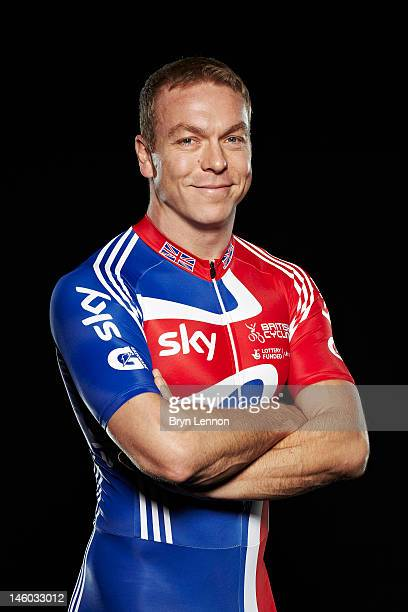 Cyclist Sir Chris Hoy of Great Britain poses for a portrait session on September 28 2011 in Manchester England