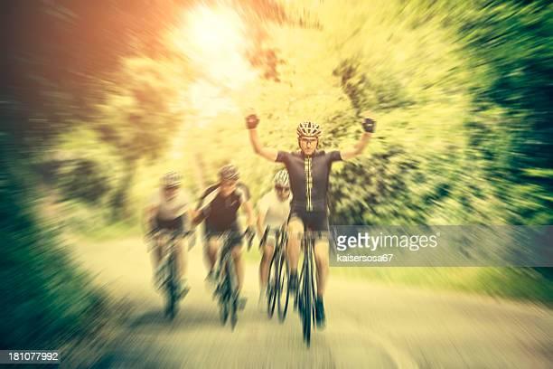 Gagner une course de vélo cycliste