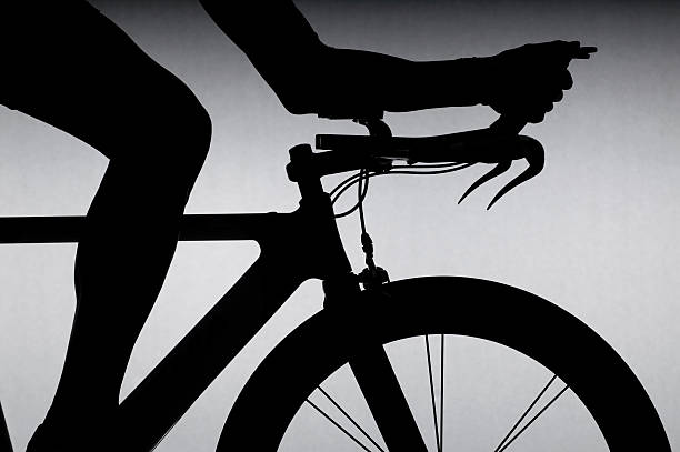 Cyclist With Time Trial Bicycle. Wall Art