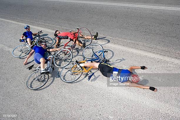 Cyclists after crash