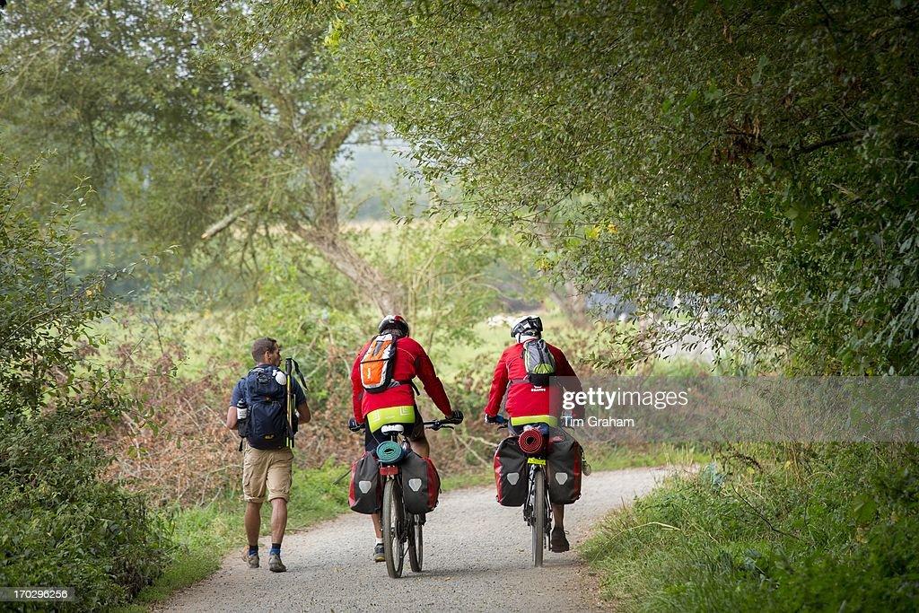 Pilgrims on Camino de Santiago Trek, Spain : News Photo