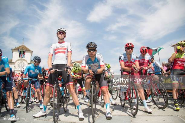 Cyclists are ready to start during the 101st Tour of Italy 2018 Stage 19 a 185km stage from Venaria Reale to Bardonecchia on May 25 2018 in Turin...