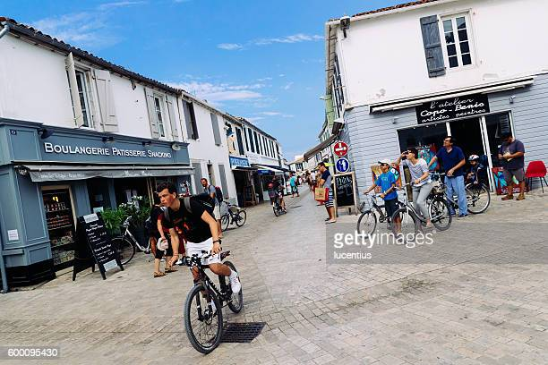 Cyclists at Ile de Re, France