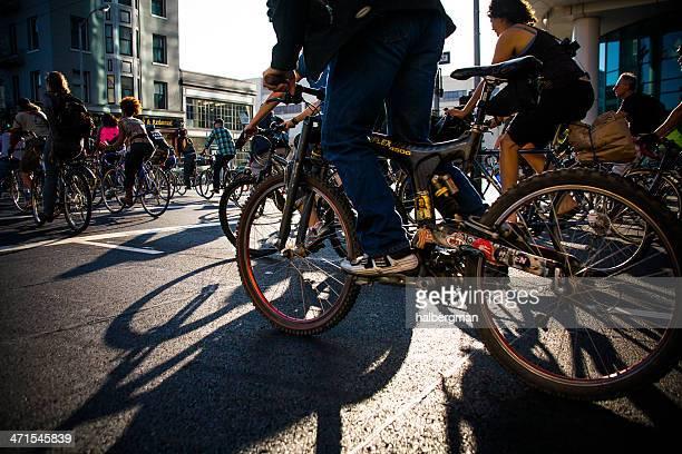 Cyclists at San Francisco Critical Mass