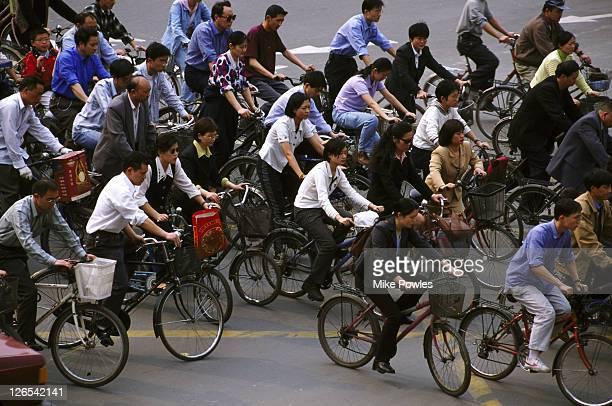 Cyclists, Chengdu, China