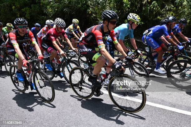 Cyclists compete during Stage 1 of the 24th Le Tour de Langkawi 2019, Kuala Lumpur to Tampin on April 06, 2019 in Kuala Lumpur, Malaysia.