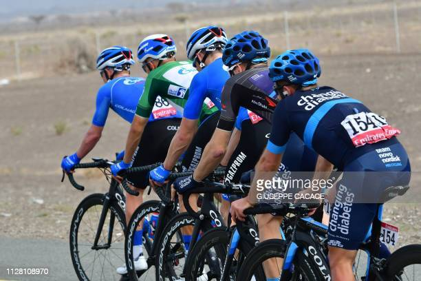 Cyclists compete during the fifth stage of the UAE tour from Sharjah to Khor Fakkan on February 28 2019