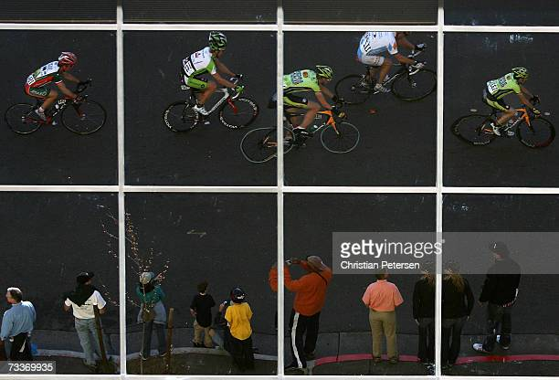 Cyclists compete in Stage 1 of the AMGEN Tour of California on February 19, 2007 in Santa Rosa, California.