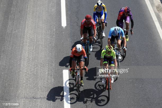 Cyclists compete in the first stage of 156,7 km long Istanbul-Tekirdag route within the 55th Presidential Cycling Tour of Turkey 2019 in Tekirdag,...