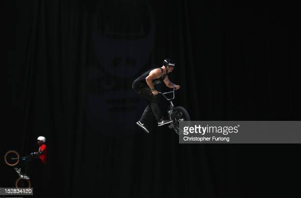 Cyclists entertain visitors during The Cycle Show at The National Exhibition Centre on September 27, 2012 in Birmingham, England. In the wake of...