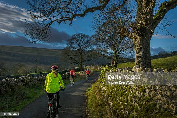 Cyclists explore the Yorkshire Dales in November