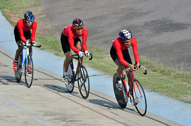 Cyclists from various Indian Universities in action on the inaugural day of the All India InterUniversity Cycling Track Championship 201516 which...