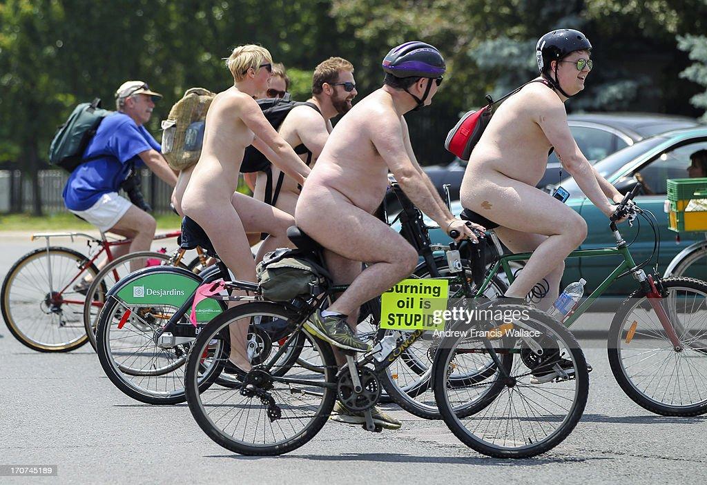 World Naked Bike Ride Toronto : News Photo