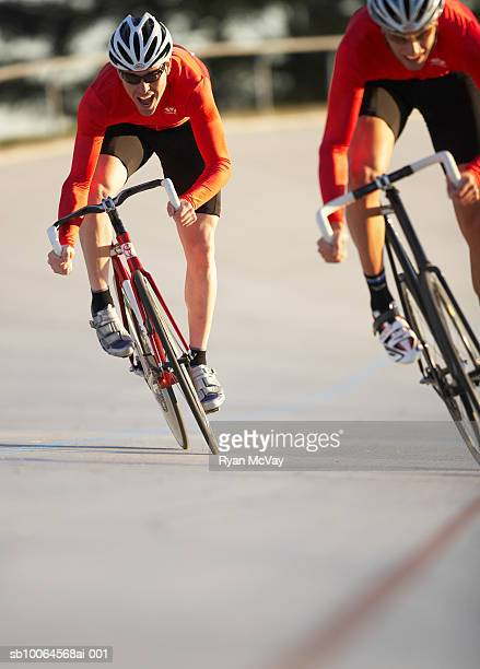 Cyclists in action