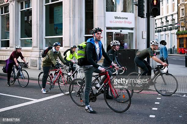 Cyclists in Borough High Street, London