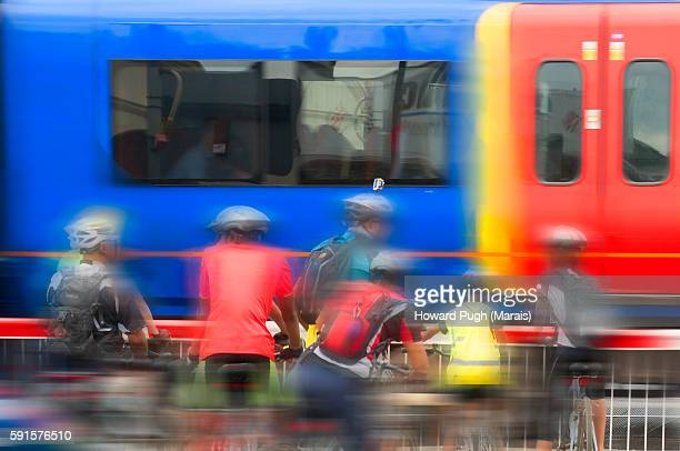 Cyclists in Motion Blur