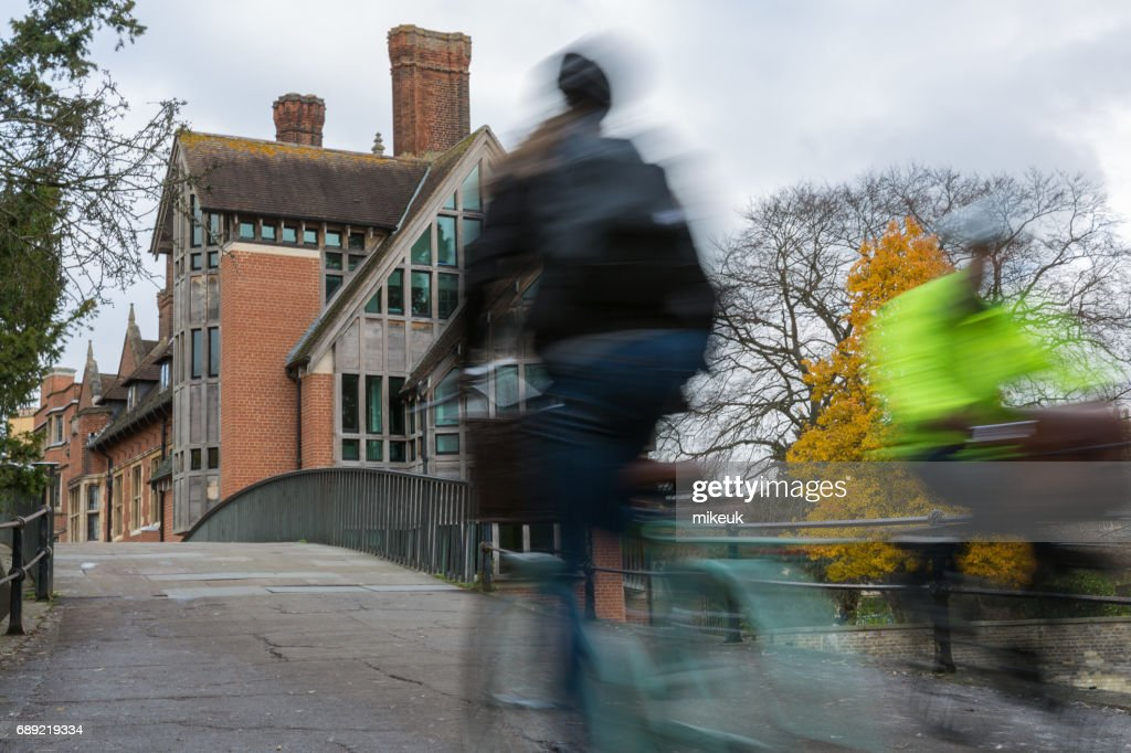 cyclists in the city centre of Cambridge, England : Stock Photo