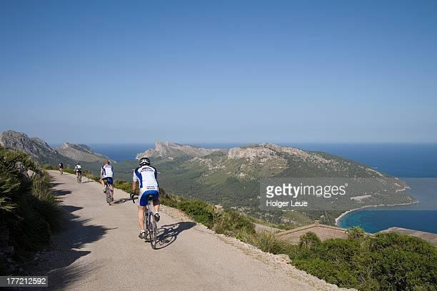 Cyclists near Cap de Formentor