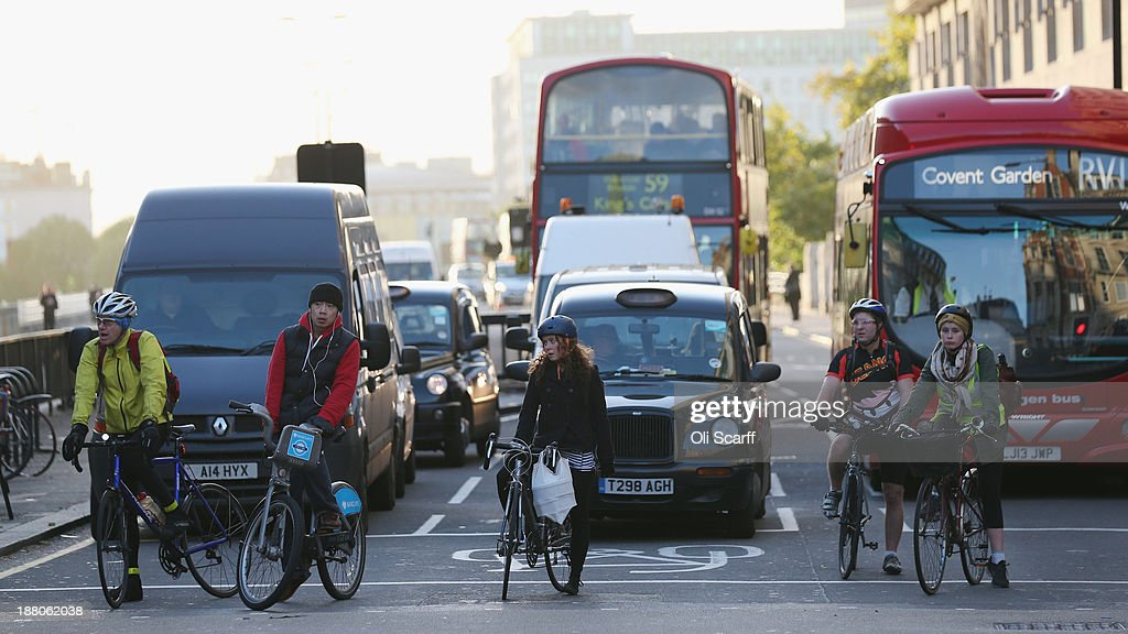 London Cycling Safely Under Scrutiny : News Photo