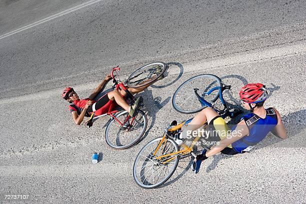 Radfahrer auf dem Boden