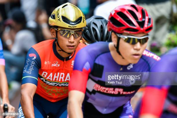 Cyclists participate in a race during the Sun Hung Kai Properties Hong Kong Cyclothon on October 8 2017 in Hong Kong Hong Kong Over 2500...