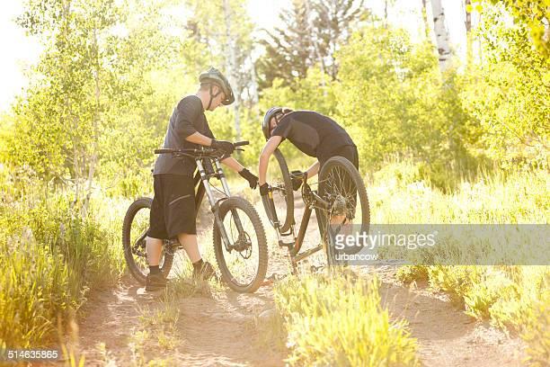 Radfahrer, stechen reparieren