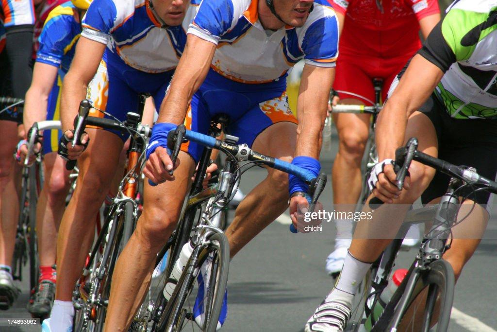 Cyclists race : Stock Photo