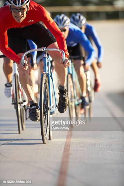 Cyclists racing
