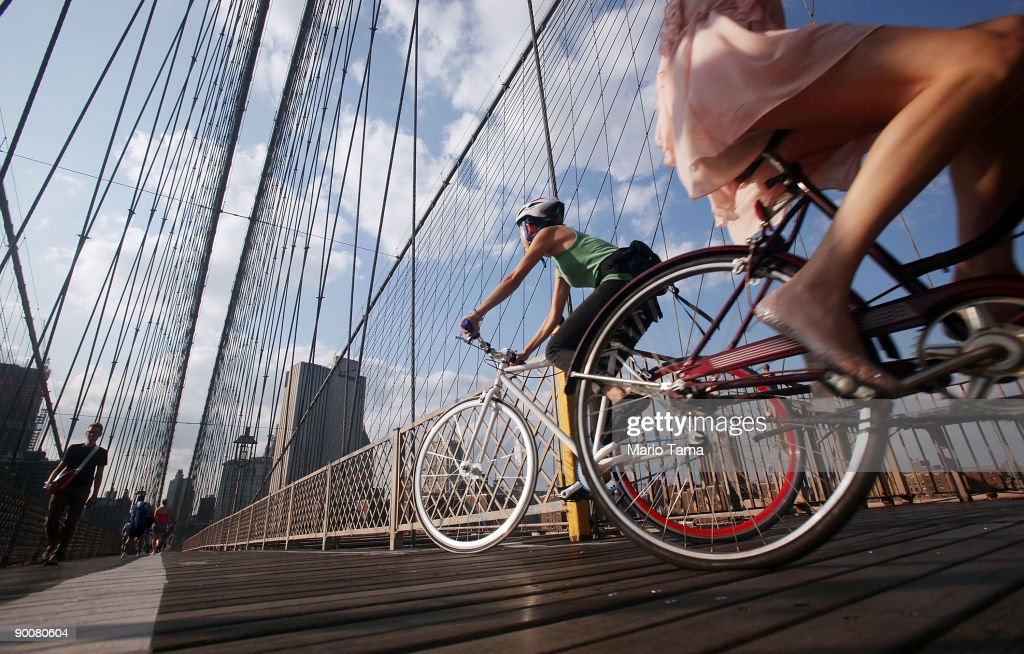 Commuting In NYC Bicycle Gains In Popularity According To DOT Study : News Photo