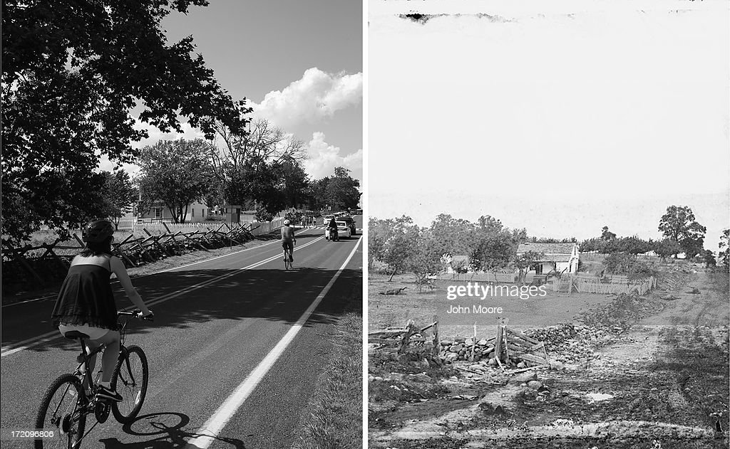 Image result for gettysburg photos then and now