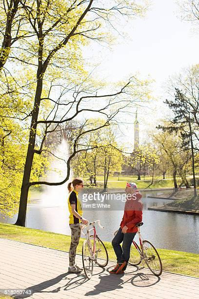 Cyclists, Riga, Latvia