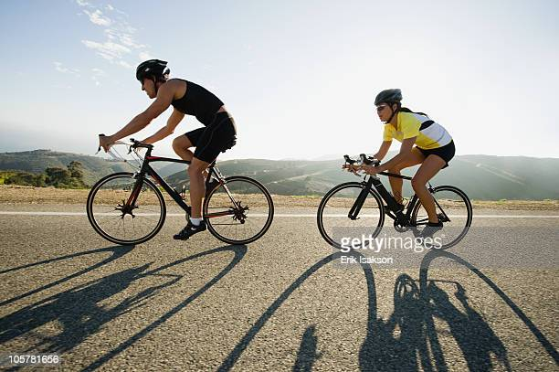 cyclists road riding in malibu - road cycling stock pictures, royalty-free photos & images