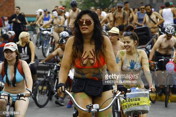 Cyclists Take Part In The World Naked Bike Ride To Protest -6535