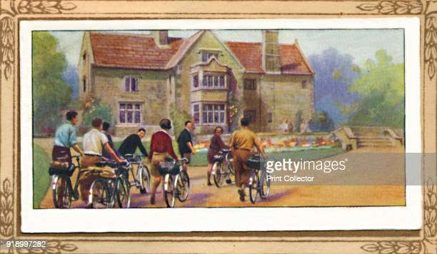 Cyclists & The Y.H.A.', 1939. From Cycling 1839-1939 . [John Player & Sons, London, 1939]Artist Unknown.