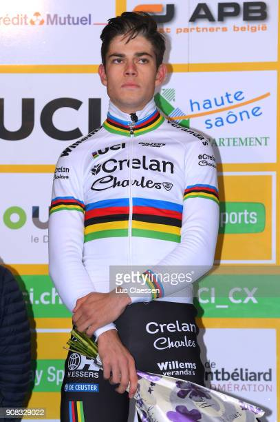 13th WC Nommay Podium / Wout VAN AERT / Celebration / World Cup /