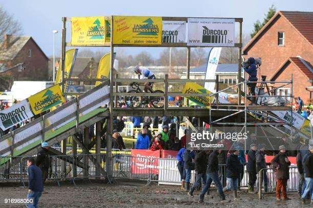 32nd SP Hoogstraten 2018 Landscape / Bridge/ Mathieu VAN DER POEL European Champion jersey Superprestige /