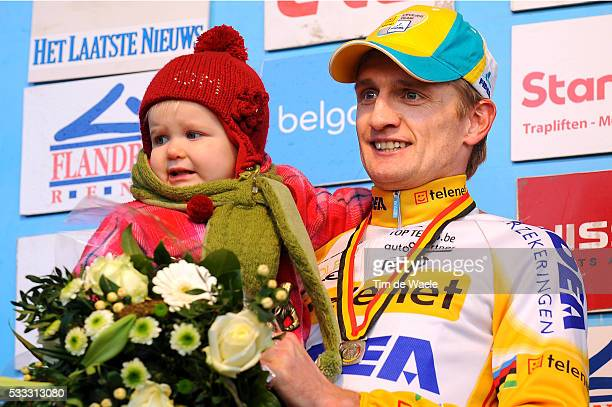 Belgian Championships 2010 Podium / Bart WELLENS / Fille Dochter Daughter Lily / Celebration Joie Vreugde / Championnat de Belgique / Kampioenschap...