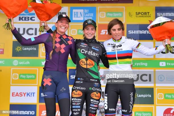 WC Koksijde 2017 / Women Podium / Maud Kaptheijns / Sophie DE BOER / Sanne CANT / Celebration / Women / World Cup /